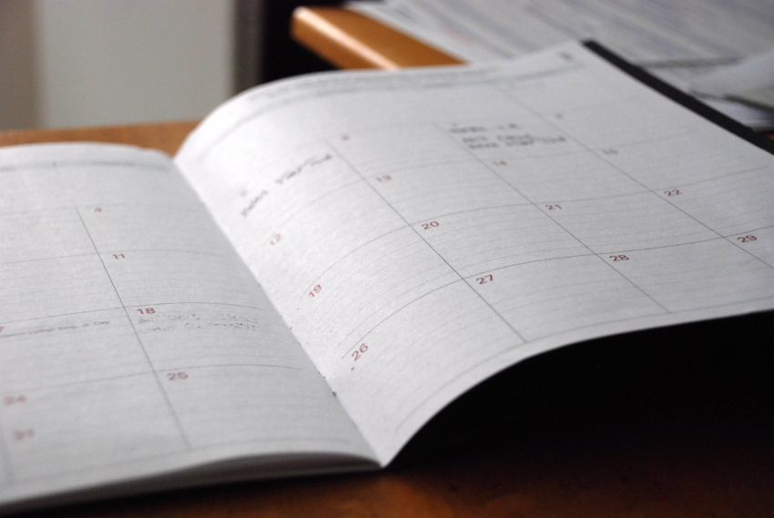 Student calendar for pregnant college student