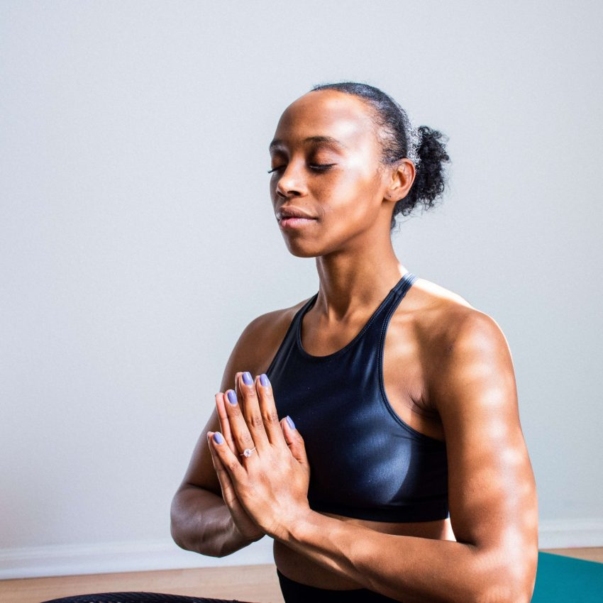 Woman practicing meditation and mindfulness