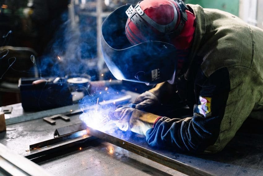 Sheet metal workers weld and build a variety of structures