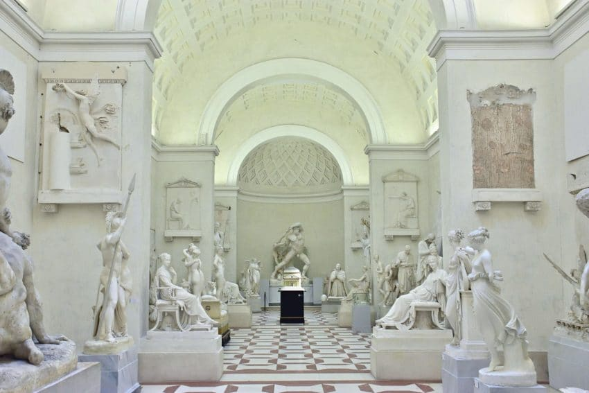 Museum with sculptures